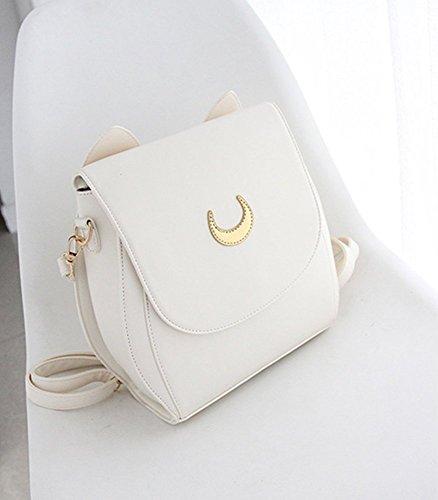 Moon Sacchetto spalla Bianco Stillcool Pu Sailor Luna Animato Serena Scuola Cosplay Di Tsukino 8rqxwB84