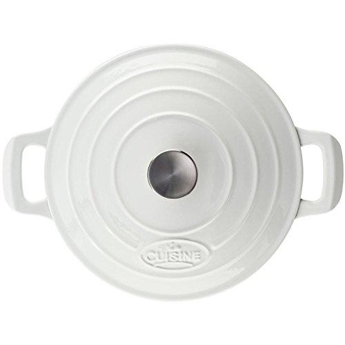 La Cuisine PRO Saute 3.75 Qt Enameled Cast Iron Covered Dutch Oven, White by La Cuisine (Image #3)