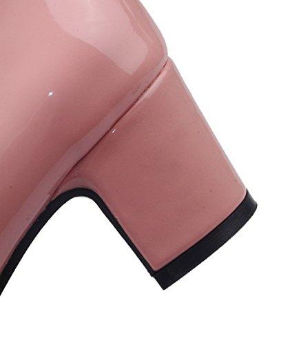 Aalardom Unie Correct Chaussures Rose Carré À Légeres Talon Tire d1Avq1