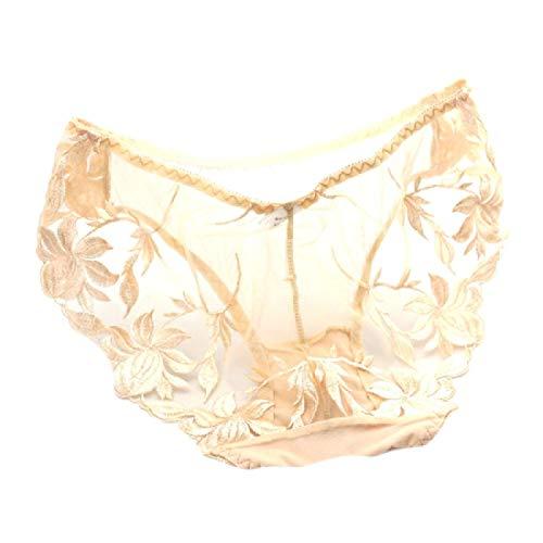 Andopa Women Mesh Cotton Cotton Sexy Sheer Underwear Bikini Panty 9 OS