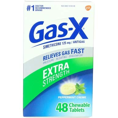 Gas-X Extra Strength, Peppermint Creme, 48 Chewable Tablets (Pack of 2) by Gas-X