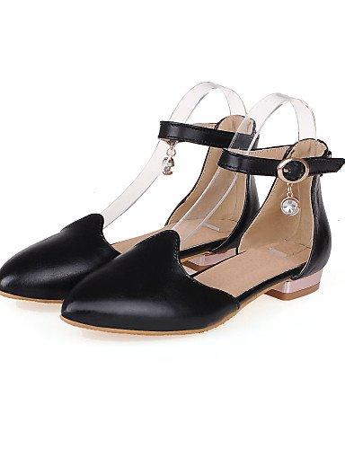zapatos cn38 señaló uk5 Toe pink PDX tacón rosa us7 Casual negro eu38 mujeres blanco de bajo 5 5 Flats BSg5q