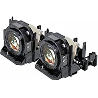 PT-DW640 Panasonic Twin-Pack Projector Lamp Replacement. Projector Lamp Assembly with High Quality Genuine Original Phoenix Bulb Inside