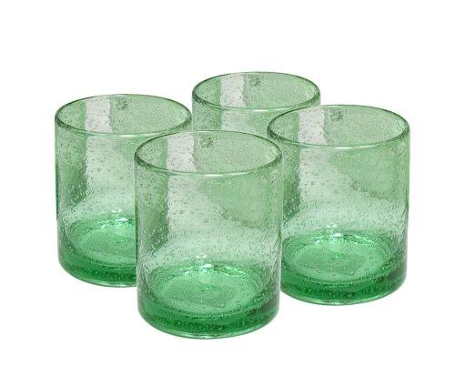 Artland Iris Double Old Fashioned Glasses, Light Green, Set of ()