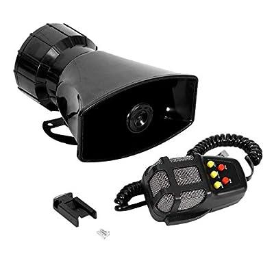 JEM&JULES Car Truck Alarm Police Fire Loud Speaker PA Siren Horn MIC System Kit - 100W 12V