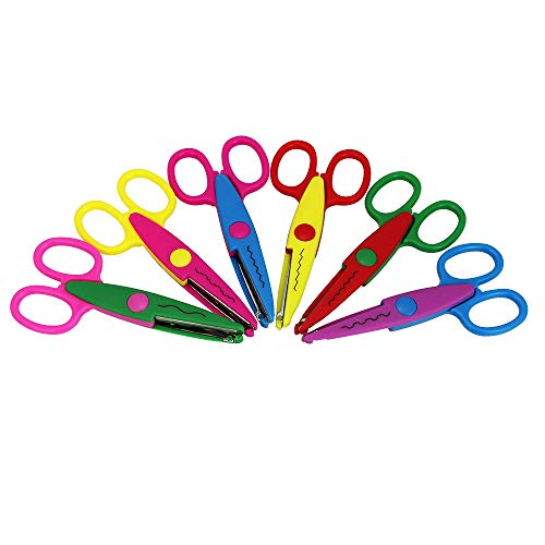 ZILONG Safe Edger Scissors 6 Pack Colorful Paper Craft Edging Scissors for Kids and Teachers DIY Album