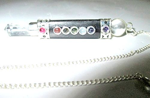 Wand Pendant - Jet Black Tourmaline Chakra Wand Pendulum Genuine Healing Reiki Chakra Free Booklet Jet International Crystal Therapy