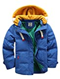BUYKUD Kids' Boys Winter Jacket Hooded Down Coat Warm Quilted Parka Outwear