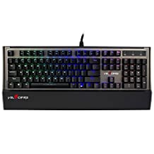 Velocifire VM90 Full Size USB RGB Mechanical Gaming Keyboard NKRO Anti-ghosting with Kailh Black Switch and Customizable Multicolor Backlit (US Layout, Black)