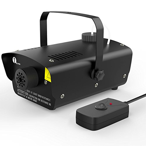 [1byone Halloween Fog Machine with Wired Remote Control, 400-Watt Fog Machine, Black] (Party Fog Machine)