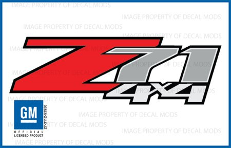 Chevy Silverado Z71 4x4 decals stickers - F (2007-2013) bed side 1500 (4 X 4 Decal)
