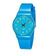 VOEONS Kinder-Armbanduhr Analog Quarz Blau Jungen Mädchen Uhr PSE-401B