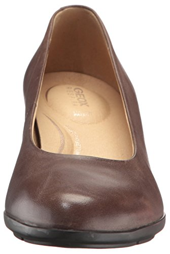 Toe Closed Mid B Pumps Women's Taupe D Geox Brown Annya axY4nq