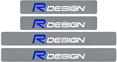 4 Stuks Auto Koolstofvezel Instaplijsten Kick Platen voor Volvo R Design XC90 S60 XC60 V70 S80 S40 V50 V40 V60 C30 S70…