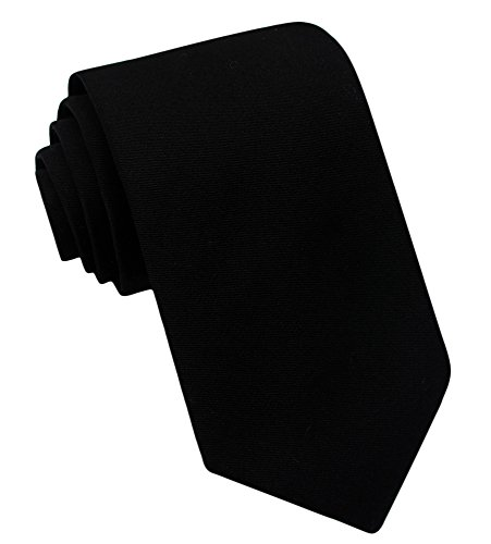 Kebs Basic Mens Solid Color Cotton Necktie Regular Tie for Men - - Knit Silk Tie Cashmere