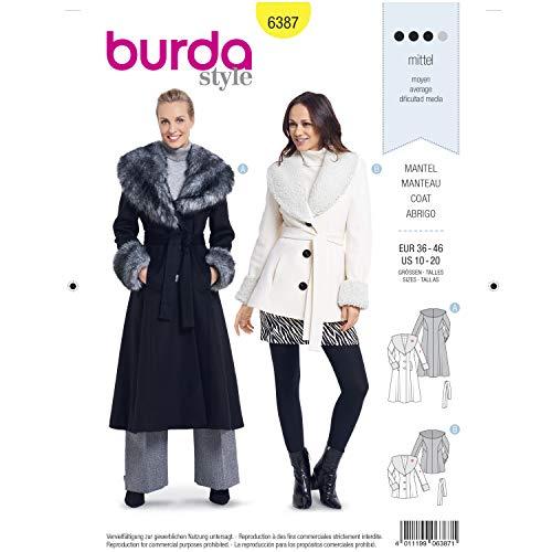 - Burda Style Sewing Pattern B6387 - Misses' Shawl Collar Coats, A(10-12-14-16-18-20)