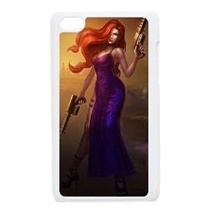 iPod Touch 4 Case White League of Legends Secret Agent Miss Fortune KP2043743
