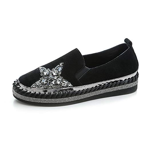 Shoes AdeeSu Casual Studded Black Womens Walking Beaded Toner Urethane SDC06138 Rp1ZqRr