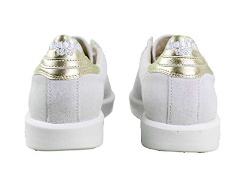 Diadora Heritage, Donna, Game Luxury White, Suede / Pelle, Sneakers, Bianco, 38.5 EU
