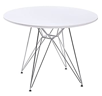 Circular dining table white wire legs 47 top amazon kitchen circular dining table white wire legs 47quot keyboard keysfo Choice Image