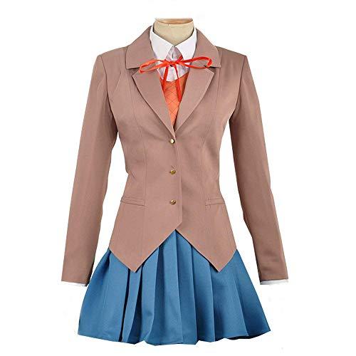 Expeke Women Sayori Yuri Natsuki Monika Uniform Cosplay Costume (Women S, Style ()