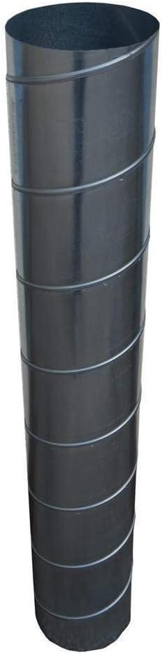 Wickelfalzrohr /Ø 150 mm rund verzinkt 2m