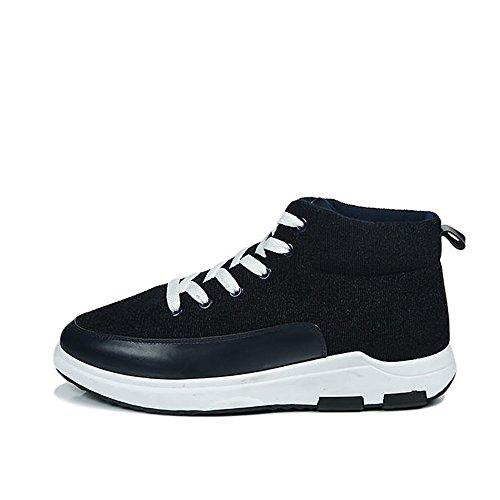 High Cricket New Top per Sneakers Scarpe da Uomo Style di Blu Casual Canvas da Tendenza Sportive Scarpe Le Aumentare Athletic UxxRA4qY
