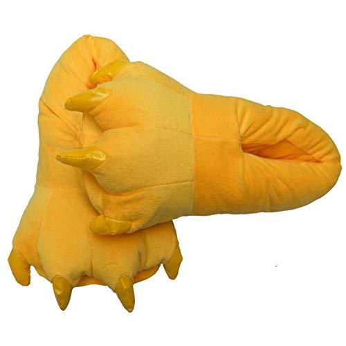 Peluche In Per Animale Carino Morbido Yellow Coperta Pile Mostro Pantofole Bambini Corallo Shape Unisex Di vqS5pw5x1