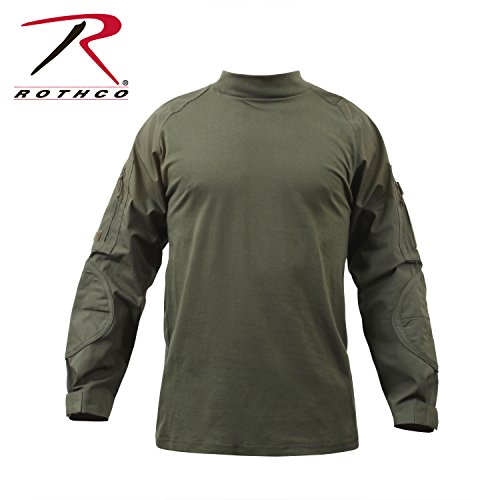 Rothco Combat Shirt, Olive Drab, Medium