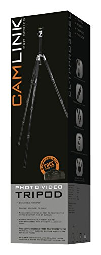 Camlink 28mm Line Diameter Professional Tripod - Silver by Camlink (Image #9)