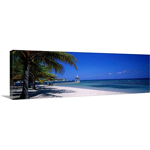 GREATBIGCANVAS Gallery-Wrapped Canvas Entitled Beach at Half Moon Hotel, Montego Bay, Jamaica by 60