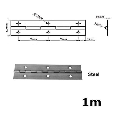 1/m de metal continua Piano bisagras todos los colores 1000/mm