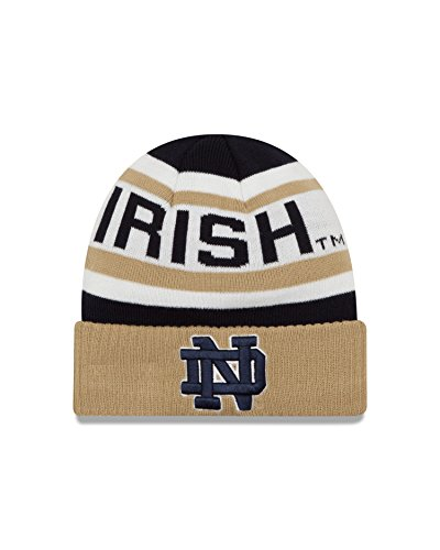 NCAA Notre Dame Fighting Irish Biggest Fan 2.0 Cuff Knit Beanie, Gold, One Size