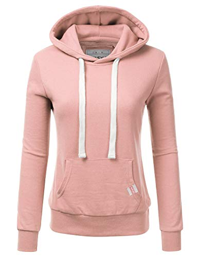 NINEXIS Womens Long Sleeve Fleece Pullover Hoodie Sweatshirts BLUSHPINK XL
