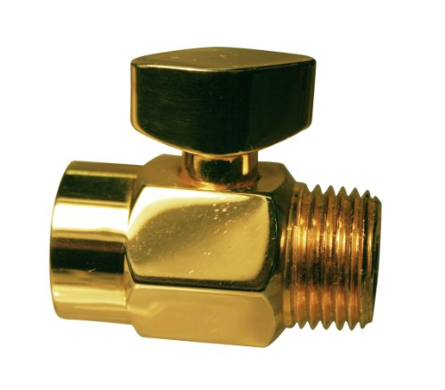 Westbrass D309-01 1/2-Inch IPS Shower Arm Volume Control Trickle Valve, Polished Brass - Brass Components