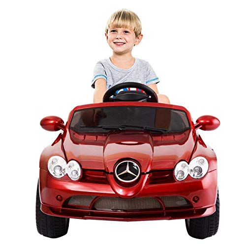 Costzon Mercedes Benz R199 12V Electric Kids Ride On Car Licensed MP3 RC Remote Control (Red)