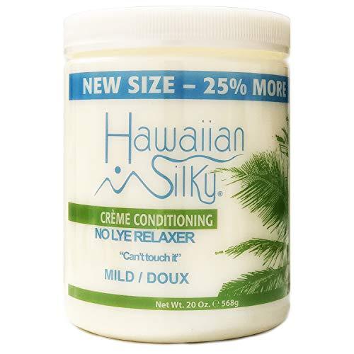 Lye Creme Relaxer - Hawaiian Silky Hawaiian silky no lye mild relaxer 20 ounce, Beige, 20 Ounce