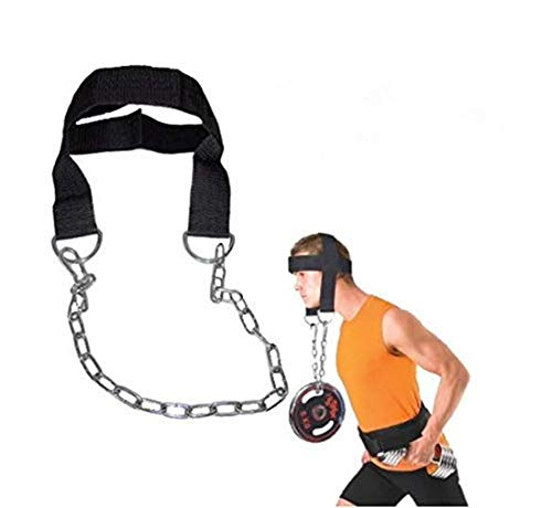 YYGIFT Adjustable Head Harness Neck Training Exercise Training Weight Lifting Strength Chain Neck Exercise Strap Adjustable Belt with Soft Padding One Size Fits All