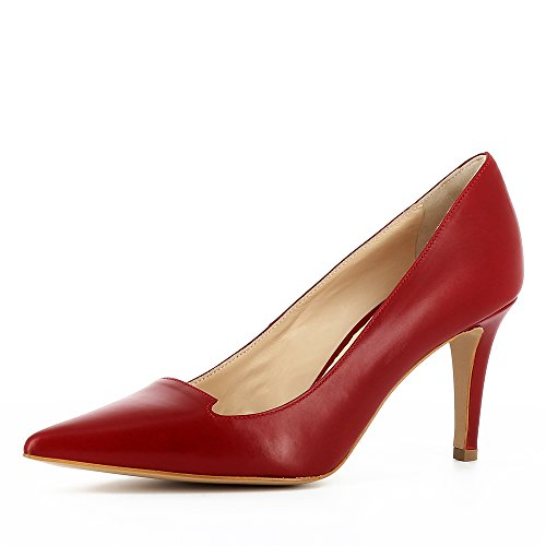 de Rojo Oscuro Evita para Vestir Shoes Mujer Piel Jessica Zapatos de qBxCPpwTf