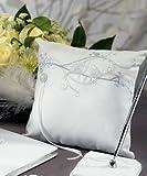 Weddingstar Love Bird in Classic White Square Ring Pillow