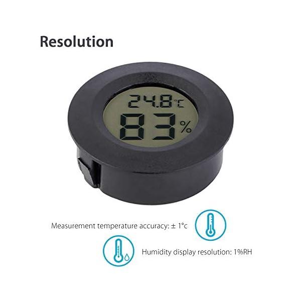 Thlevel 3PCS Mini LCD Digitale Termometro Igrometro Temperatura Umidità Misuratore 2