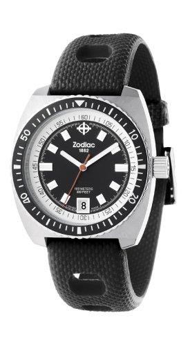 Zodiac ZO2200 - Reloj analógico de cuarzo para mujer con correa de piel, color negro