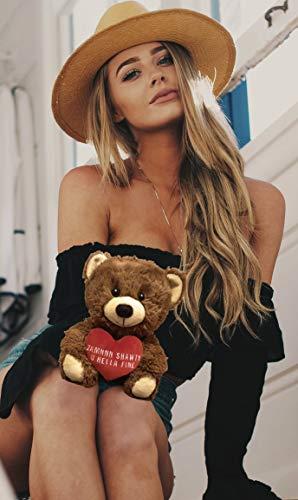 Zamnnn Shawty U Hella Fine - 10 Inch Teddy Bear & Gift Bag - Valentines Day Teddy Bear - Funny Cute Stuffed Animal - Girlfriend, Boyfriend, Best Friend: Anniversary, Birthday, Valentines Bear (Brown)