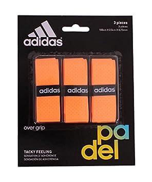 adidas Pádel OV - Set overgrip, Color Naranja, Talla única: Amazon.es: Deportes y aire libre