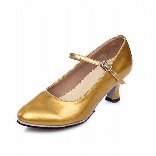 Samba Sandali Latino con Ballo Adulti Moderno alla Soft da Dance di Caviglia Gold Scarpe shoesshoes per Cuoio Onecolor Cinturino da Ballo BYLE Jazz Scarpe PYRqd7wd