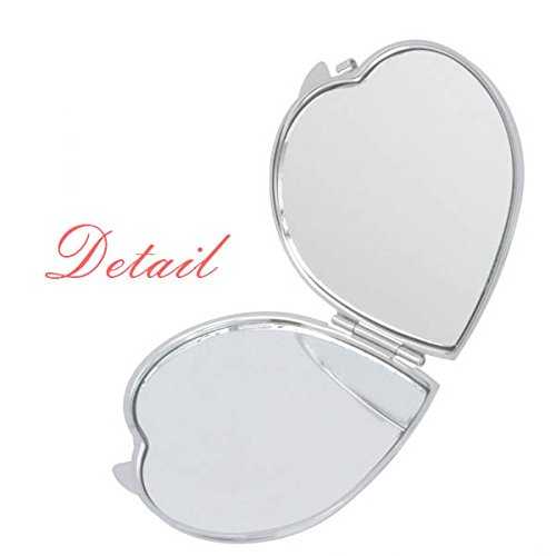 Mirrors Heels Mirror Gift Compact Cute High Portable DIYthinker Pocket Makeup Women Beautiful Hand Heart Hot q6w8IO8S