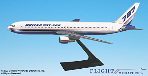 Flight Miniatures Boeing 767-300 House Colors 1981 Demo Livery 1:200 Scale Display Model