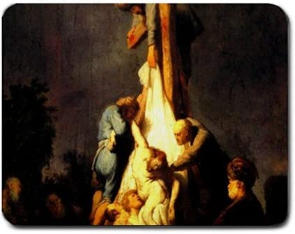 Amazon.com : Crucifixion By Rembrandt Mouse Pad : Office Products