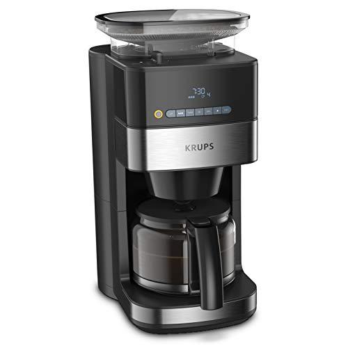 Krups Grind and Brew KM8328 cafetera de filtro con molinillo, 1.25 L, 10 – 15 tazas, molinillo de café, cafetera…