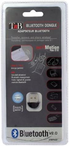 T'nB Free Motion Piko Bluetooth 3Mbit/s Adaptador y Tarjeta de Red - Accesorio de Red (Inalámbrico, USB, Bluetooth, 3 Mbit/s, Negro)